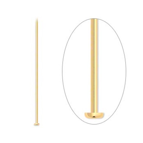 100 Gold Plated Brass 4 Inches Long 21 Gauge Headpins