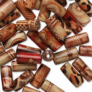"Lot of 100 Small Tan Vintage Macrame 1//2/"" Barrel Wood Craft Jewelry Beads 12mm"